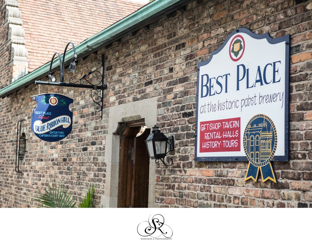 Historic Pabst Brewery Wedding: Signs