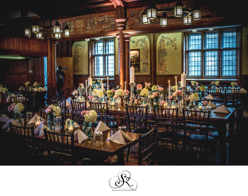 Historic Pabst Brewery Wedding: Reception Set Up