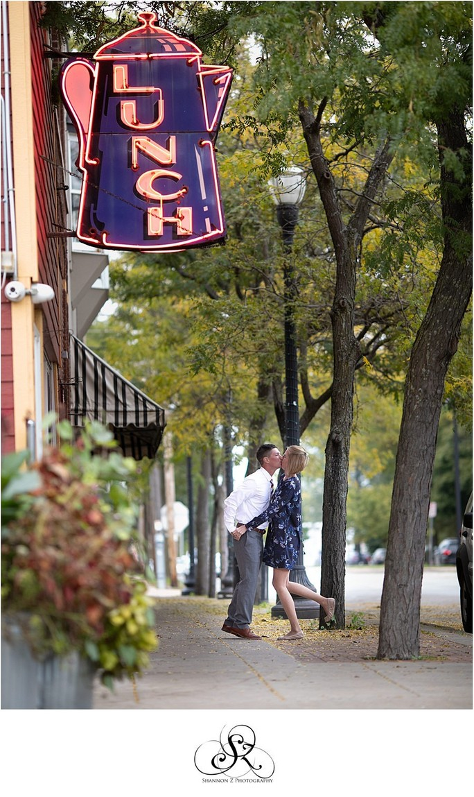 Coffee Pot Engagement: Kenosha Photographer
