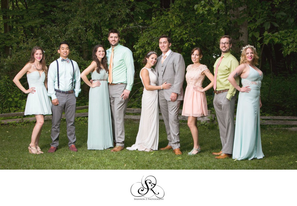 Wedding Party: Schlitz Nature Center Wedding