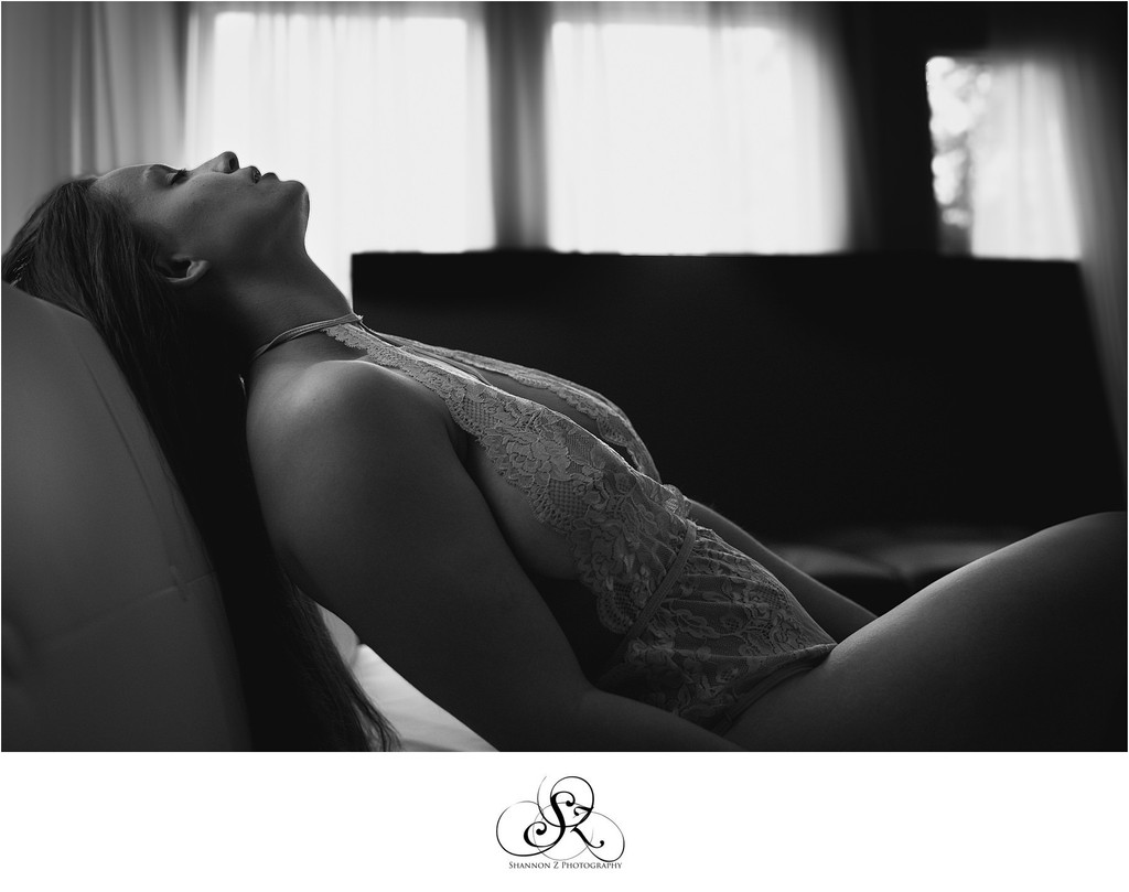 Black and White Boudoir: Kenosha Photographer