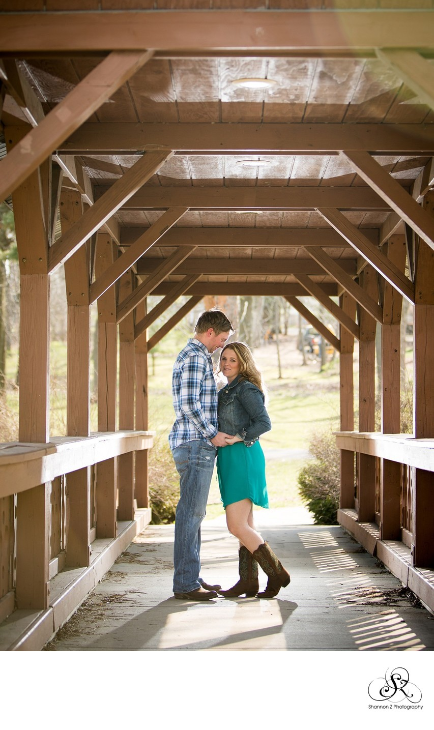 Engagement Portraits: Covered Bridge
