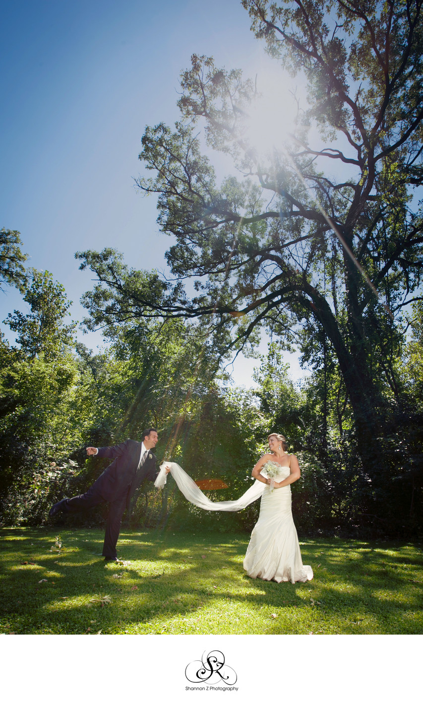 Silly Wedding Photos: The Grove at Redfield Estates