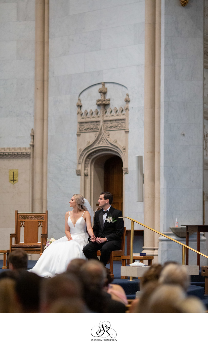 Bride and Groom: Church of the Gesu Milwaukee