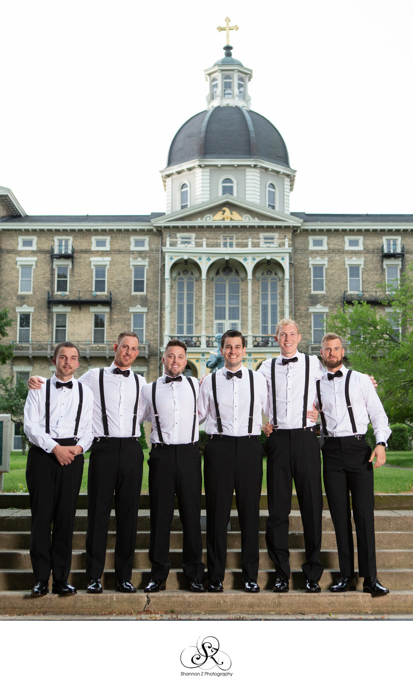 Seminary: Groomsmen Milwaukee Wedding Photographers