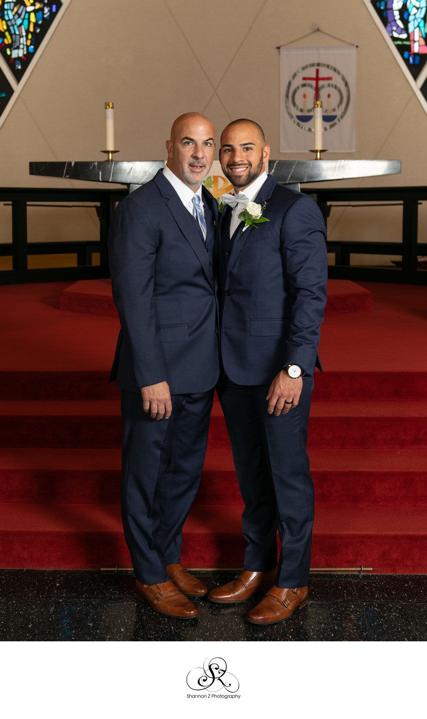 Father and Son: Wedding Portraits