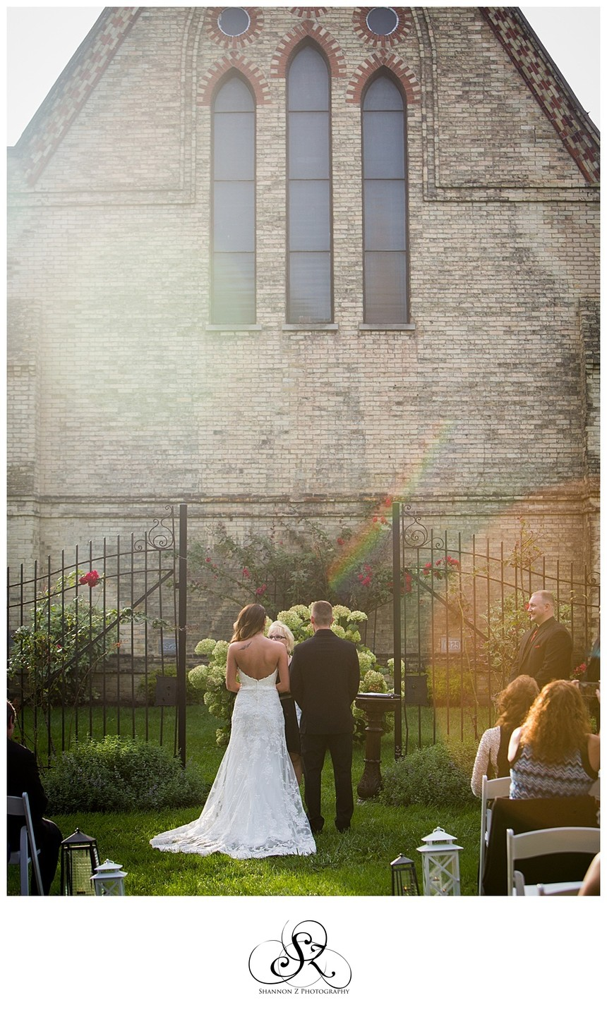 Wedding Ceremony with Rainbow: DeKoven Center