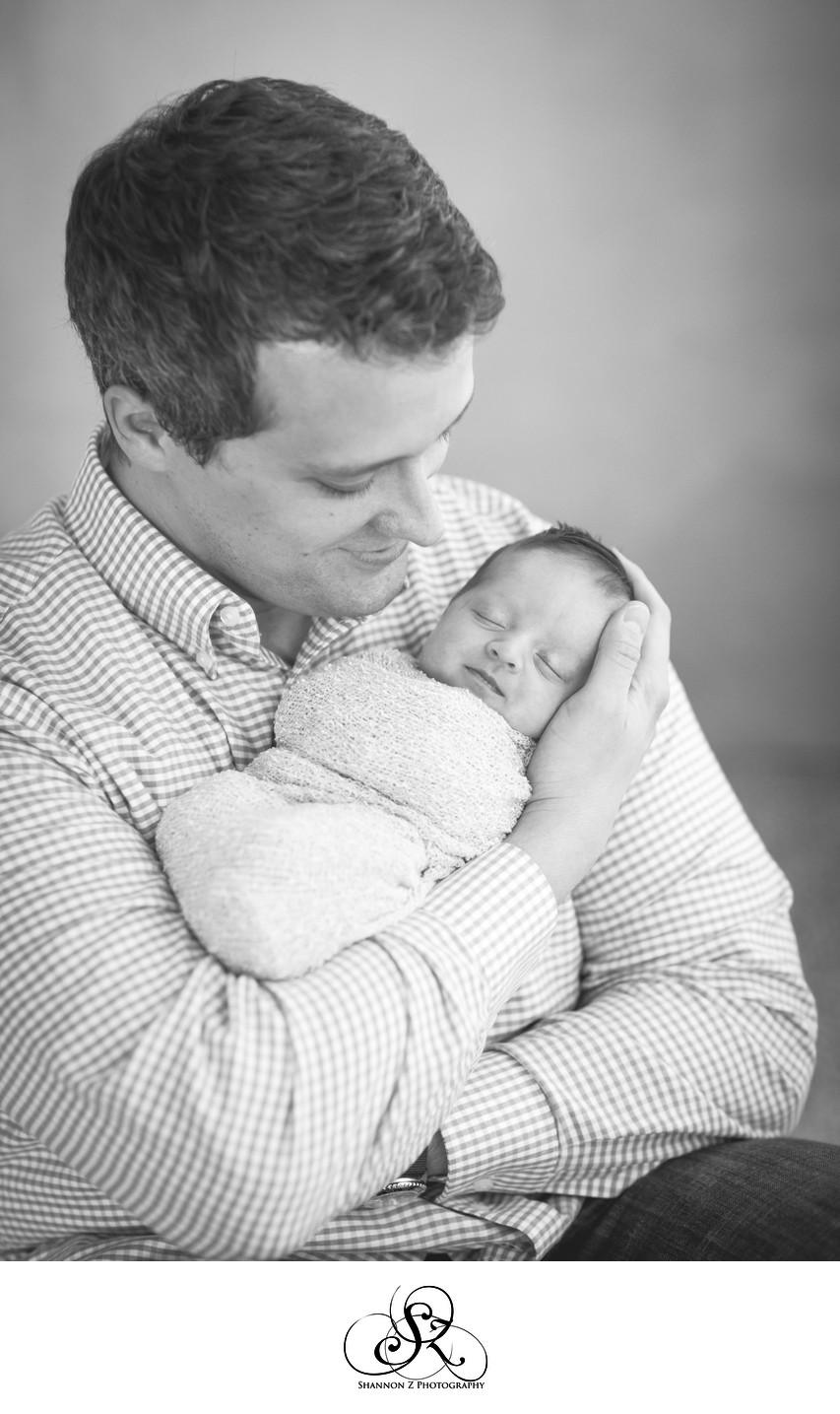 Kenosha Newborn Photographer: Father and Daughter