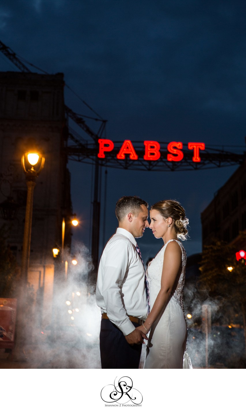 Pabst Sign:Historic Pabst Brewery Wedding