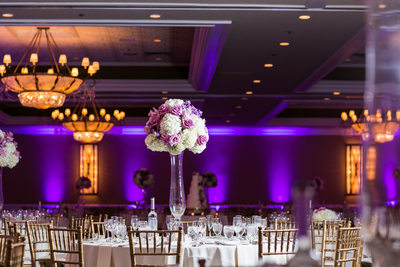 Purple and Gold: Wedding Decor