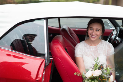 Car Reflection: Wedding Day