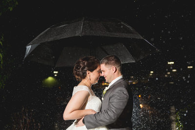 Rain Photo: Wedding Day