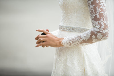 Lace Sleeves: Brides Dress