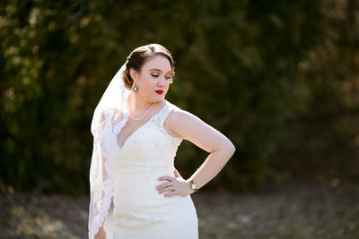 Dramatic Portrait of Bride: Wedding Day Photo