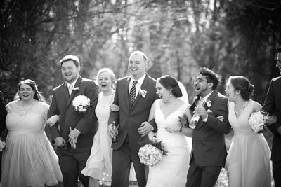 Laughing Wedding Party: Milwaukee Wedding Photos