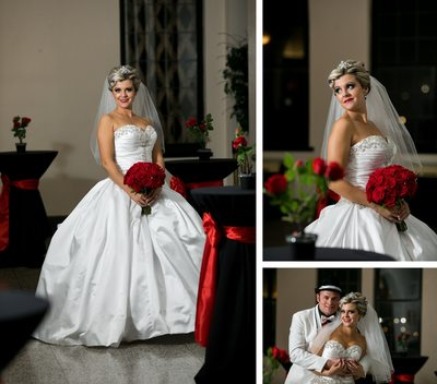 Bride at Marina Shores: Wedding Day