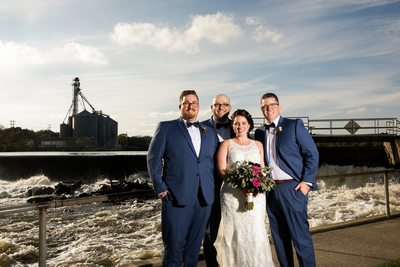 Bride and Groomsmen: Burlington Wedding