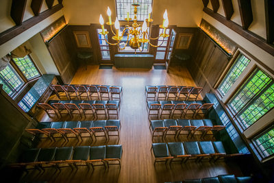 Birds Eye View: Ceremony Setting at Redfield Estates