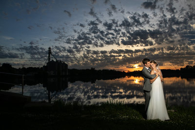 Burlington Sunset: Veterans Terrace Wedding Photography