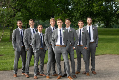 Burlington Wedding Photographer: Groomsmen