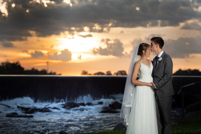 Burlington Wedding Photographer: Sunset Skies