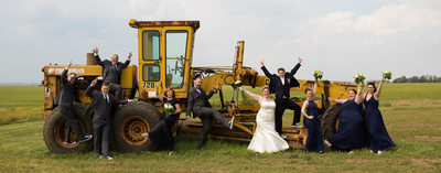Tractor: Wedding Party Photo