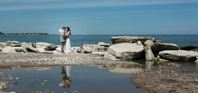 Lake Michigan Reflections: Wedding Day