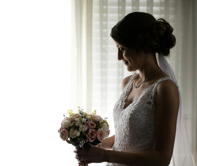 Bride and Bouquet: Bridal Portrait