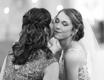 Brides Tears: Mom and Bride at Altar
