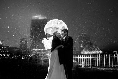 Harbor House Milwaukee Wedding: Rain
