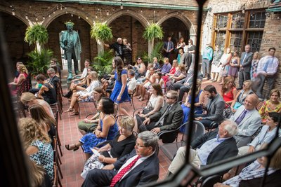 Historic Pabst Brewery Wedding: Courtyard Ceremony