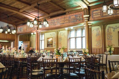 Historic Pabst Brewery Wedding: Blue Ribbon Hall Reception