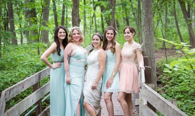 Schlitz Nature Center Wedding: Bridesmaids