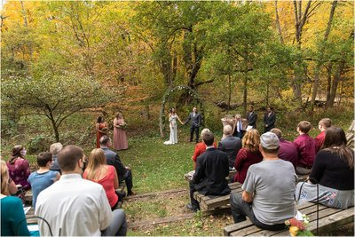 Outdoor Ceremony: Hawthorn Hollow Wedding