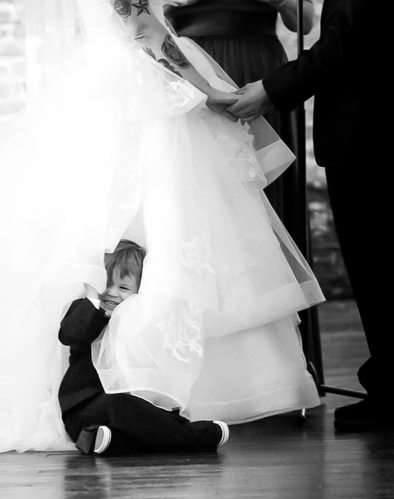 Boy in Dress: Wedding Day Candids