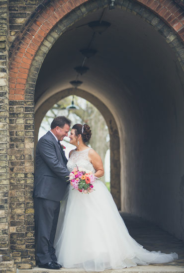 DeKoven Center: Wedding Photo in Tunnel