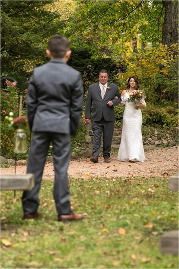 Bride and Dad: Hawthorn Hollow Wedding
