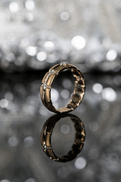 Gold on Silver: Wedding Band