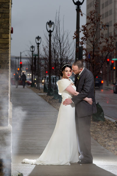 Winter Wedding in Milwaukee: Street Photo