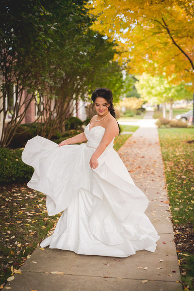Bride With Layered Dress: Wedding Dress
