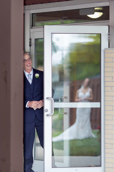 Dad and Daughter: Wedding Day First Look