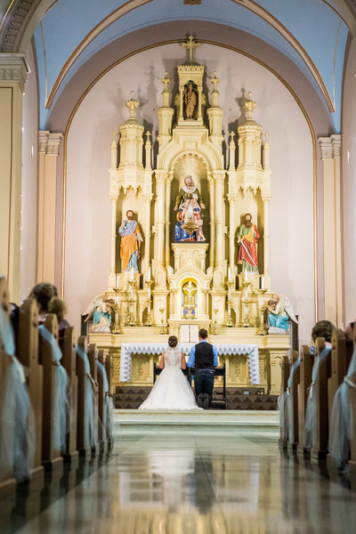 Church Wedding Ceremony: Wisconsin Wedding Photographer