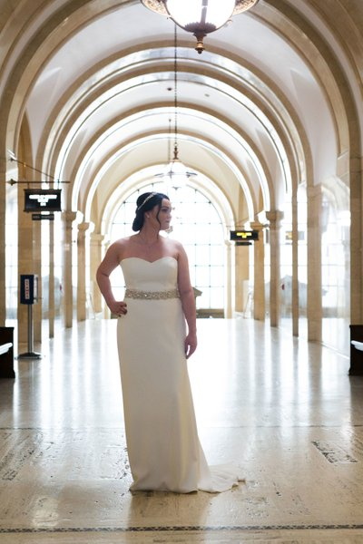 Milwaukee Courthouse Wedding: Bride Portrait