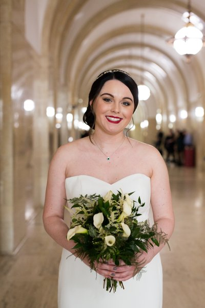 Milwaukee Courthouse Wedding: Bride