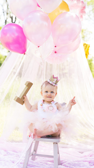 First Birthday Photoshoot: Princess Theme