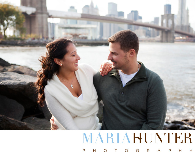 Brooklyn Bridge Park Engagement Pictures