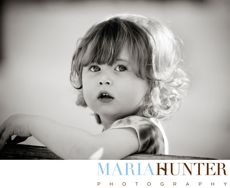 Black and White Child Photography New York