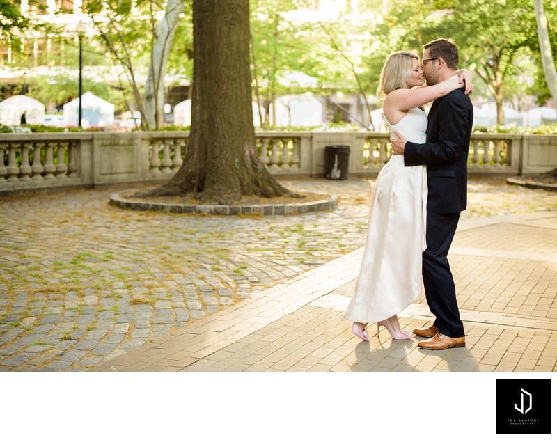 Rittenhouse Square Engagement Picture