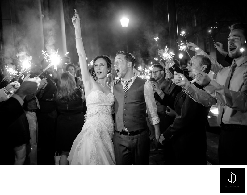 Wedding Pictures with Sparklers