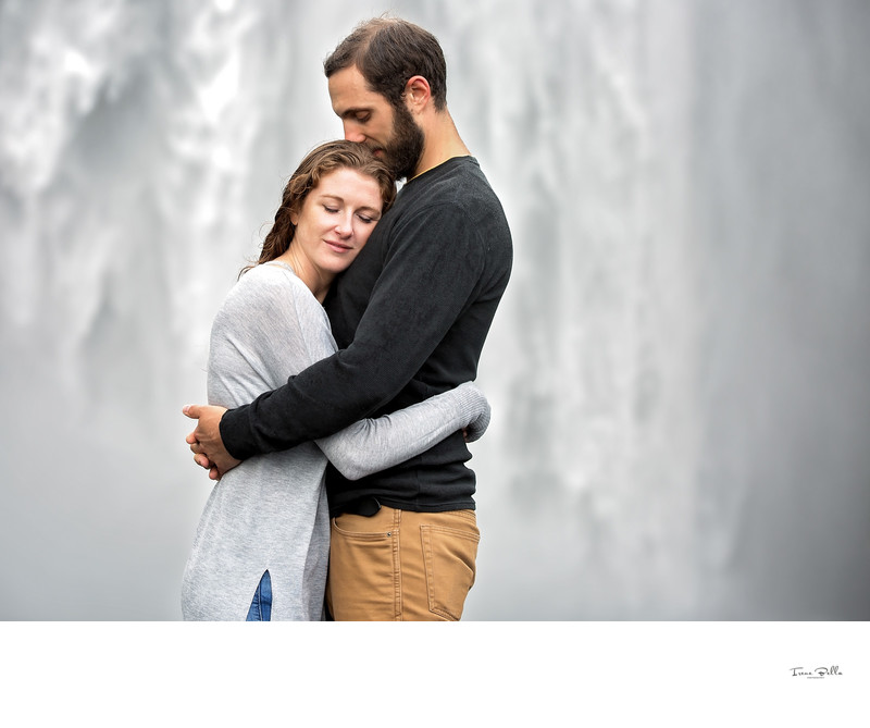 Romantic Engagement Photo Iceland